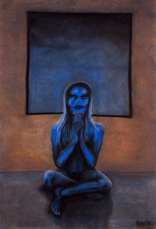 Praying for Sleep Chalk Pastel